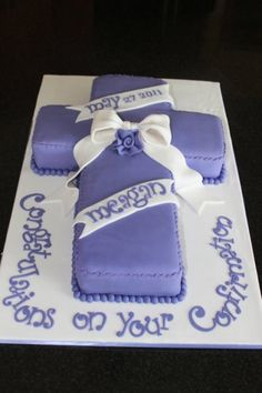 Confirmation/First Communion cake By caketopia on CakeCentral.com