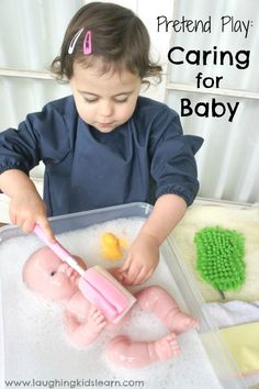 Caring for newborn with pretend play - Laughing Kids Learn