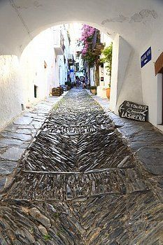 The old part of the town Cadaqués Costa Brava Catalonia