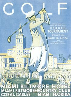 Vintage golf poster // Pipeline Marketing Group