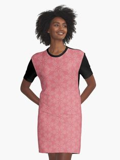 """Tea Rose #1"" Graphic T-Shirt Dress by Kettukas 