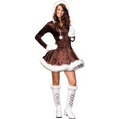 Eskimo Cutie Pie Halloween Costume by Dreamgirl. or Junior Cute Halloween Costumes For Teens, Crazy Costumes, Halloween 2017, Halloween Ideas, Halloween City, Halloween Stuff, Eskimo Halloween Costume, Eskimo Costume, Outfits For Teens