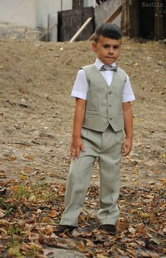 This cute boys vest is very dressy and ideal for weddings, family photos and many formal occasions. Its dapper look is perfect for any special occasion and will make a great birthday gift, ring bearer gift, or ring bearer outfit for boys of any age. Your little gentleman will look handsome and stylish in this elegant waistcoat, tailored for each child individually, by following his measurements, in our handmade fashion design studio. ■ This listing is for 1 item: vest. ■ 100% handmade with…