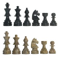 Deluxe American Style Coral & Black Marble Chess Pieces -- You can get more details by clicking on the image.