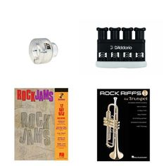 Items similar to Trumpet Music Academy Advancement pack -Trumpet Embouchure Tool; Adjustable Hand Exerciser + (Rock Jams Music Book Bundle) on Etsy Trumpet Accessories, Trumpet Music, Trumpet Players, Teaching Tools, Packing, Rock, Bag Packaging, Locks, Rock Music