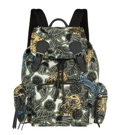 BURBERRY Printed Nylon Backpack. #burberry #bags #leather #nylon #backpacks #
