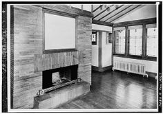 Photo from the HABS archives Babson Residence service wing Purcell & Elmslie Copies of the drawings of this project are available on th