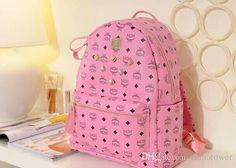 Pink mcm backpack