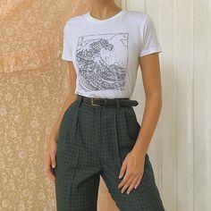 plaid trousers / in sizes SOLD Clothes Ivia Retrò Look Fashion, 90s Fashion, Korean Fashion, Winter Fashion, Fashion Outfits, Celebrities Fashion, Fashion 2020, Fashion Women, Fashion Ideas