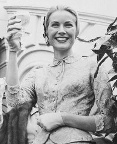 April 18, 1956 - Grace Kelly after the civil ceremony
