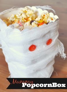 Serve your Halloween Treats in a Spooky Mummy Popcorn Box
