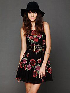 Daisy Waist Print Dress in clothes-dresses  #FloralShop #FreePeople