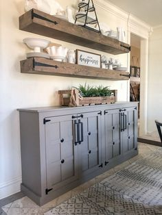 Looking for for images for farmhouse interior? Check out the post right here for perfect farmhouse interior images. This amazing farmhouse interior ideas looks wonderful. Farmhouse Cabinets, Farmhouse Interior, Diy Cabinets, Farmhouse Furniture, Rustic Farmhouse, Farmhouse Shelving, Antique Furniture, Modern Furniture, Furniture Layout