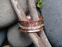 "Riveted Fidget Ring  Instructor: Kat Clark Workshop Fee: $35 Wednesday, June 1 (6-9pm) Fidget or Spinner rings seem to be the hottest rings you can make today. Most require soldering. Not this one! We will create two ring bands and bring them together to make one ring, flaring the inside band to make sure the ""fidget' doesn't slip off. Previous sheet metal and riveting experience is required. Materials list."