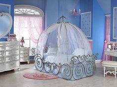 decoracao-quarto-infantil-disney-cama-cinderella-azul