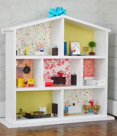 "Building A House… For Dolls: I think you could even make this for boys if you changed out the ""wall paper""...ooh you could even make it a fire station or police station!"