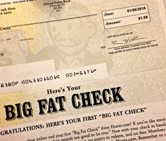 How to Earn Cash Online with Ebates, My first cheque was $1.59, it should have been $700!  Learn from my mistake! Get the ebates cash back toolbar for your own Big Fat Check!