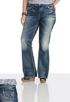 Silver Jeans Plus Size Jeans, Suki Surplus Bootcut, Medium ...