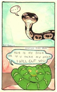 Snake, do not fight with snek XD