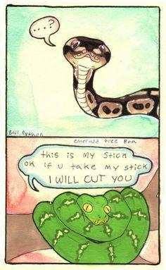 Snake, do not fight with snek XD