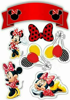 Minnie Mouse Party Decorations, Minnie Mouse Theme Party, Mickey Mouse Parties, Mickey Party, Mickey Mouse And Friends, Mickey Mouse Birthday, Bolo Minnie, Minnie Cake, Mickey Minnie Mouse