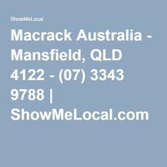 Macrack Australia - Mansfield, QLD 4122 - (07) 3343 9788 | ShowMeLocal.com