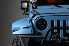2013 Jeep Wrangler w/ Ballistic Blue Kevlar on Pocket Style Flares