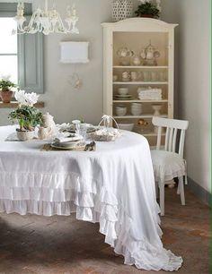 Tovaglia con gala Blanc Mariclo Sorbetto Collection Rosa Polvere ...