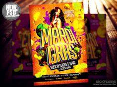 Mardi Gras Flyer Template PSD by Industrykidz