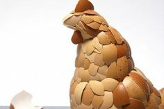 We can't believe this hasn't been done before, and at least to our knowledge, it hasn't been done better than UK-artist Kyle Bean's egg shell sculpture that makes an incredibly detailed chicken. Very good work indeed.