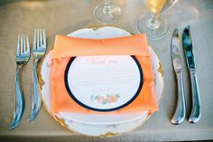 thank you note at each place setting | Sunglow Photography