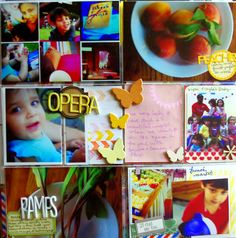 #projectlife using picasa photo collages for instagram, misted, stamped and embossed cards and lots of washi tape