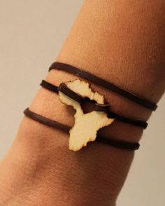 Africa Leather Wrap Bracelet <3