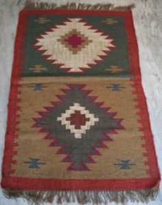 Kilim Carpet Rug 76.2Cm x 121.92Cm Hand woven Turkish Anatolian Wool Jute Kilim  #Turkish