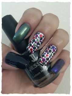 """""""POLKA DOTS WITH A NIGHT AT THE OPERA No. 1"""" **FOR DETAILS FOLLOW MY BLOG OR DO """"LIKE"""" TO MY FACEBOOK, would be great!! All comments are welcome!!! https://www.facebook.com/glamstylenailsbycarolina **"""
