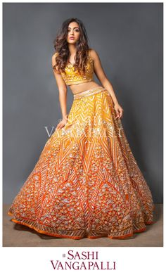 Exclusive Bridal Lehenga designed by Sashi Vangapalli Indian Bridal Outfits, Indian Bridal Lehenga, Indian Bridal Fashion, Indian Designer Outfits, Sabyasachi Lehenga Bridal, Indian Designers, Punjabi Fashion, Half Saree Designs, Lehenga Designs
