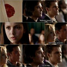 When a Hunter tries to trap a Vampire. TVD - The Vampire Diaries Serie Vampire Diaries, Vampire Diaries Quotes, Vampire Diaries The Originals, Damon Salvatore, Delena, Paul Wesley, Mejores Series Tv, Photomontage, Vampire Daries