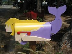 Tropical fish mailbox coastal mailboxes pinterest for Fish mailboxes for sale