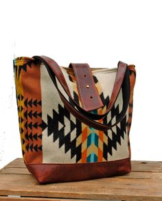 Ann Shoulder Bag in Rancho Arroyo PatternOrange by appetite, $104.00