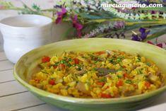 Paella de arroz con verduras http://www.mireiagimeno.com/recetas/paella-de-arroz-con-verduras