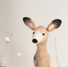 This felted cutie is actually a marionette! #etsy #etsyfinds