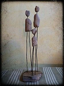 Elegante sculpture en fil de fer sous mon arbre n 003 - Miroir bois flotte pas cher ...