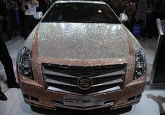 Cadillac CTS Coupe covered with 350,000 Swarovski crystals