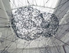 Tomas Saraceno at venice art biennale 09 Bruno Latour, Types Of Art, Installation Art, Art Installations, Fiber Art, Galaxies, Creative Design, Modern Art, Street Art