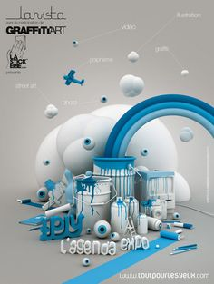 site-icecream-3D-3 - 3D Typography Design Modelling #3D #design #poster