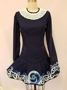 Irish dance team dress. Irish dance school dress by Prime Dress Designs. Rising Tide Irish dance