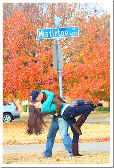 so adorable. I don't know where there is a Mistletoe road, but... I want to do this!