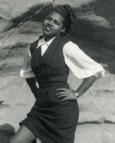 G480 Vintage 1950s Photograph Pretty African American Woman in Sassy Pose   eBay