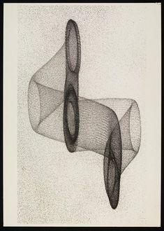 Herbert W. Franke, Elektronische Grafik (Electronic Graphics), screenprint on board (ca. 1970)