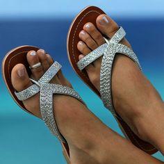 Silver Metallic Saida Sandals by aspiga